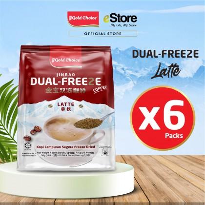 GOLD CHOICE Dual Freeze Coffee - Latte (30g X 15'S)  X 6 Packs In Bundle