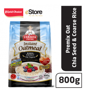 FARMER FRESH Oatmeal Instant With Chia Seed - 800g X 1
