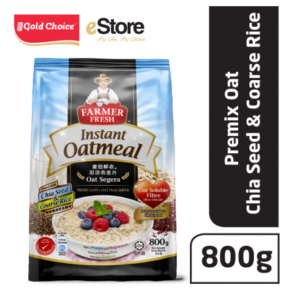 FARMER FRESH Oatmeal Instant With Chia Seed - 800g X 1 [Oat]