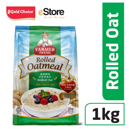 FARMER FRESH Oatmeal Rolled Oats - 1kg X 1 [Oat]