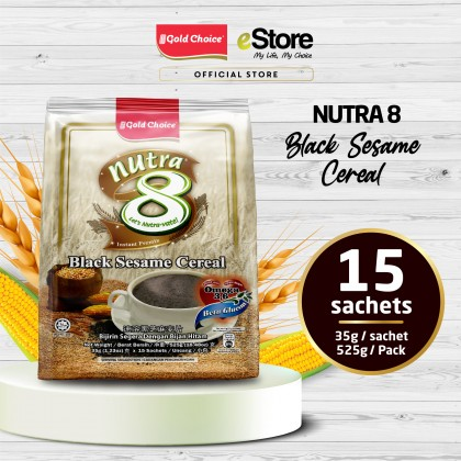GOLD CHOICE NUTRA 8 Black Sesame Cereal - (35g X 15'S)
