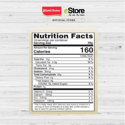 GOLD CHOICE NUTRA 8 Black Sesame Cereal - (35g X 15'S) X 3 Packs In Bundle