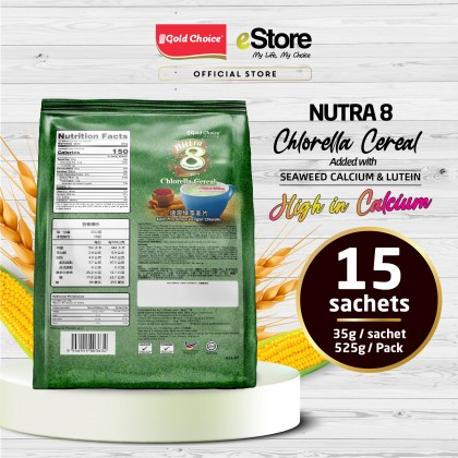 GOLD CHOICE NUTRA 8 Chlorella Cereal With Seaweed Calcium (35g X 15'S)