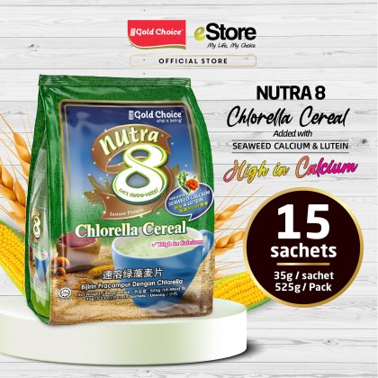 GOLD CHOICE NUTRA 8 Chlorella Cerea With Seaweed Calcium - (35g X 15'S) X 3 Packs In Bundle