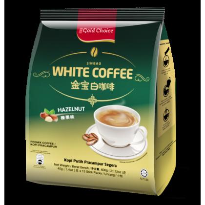 GOLD CHOICE JINBAO White Coffee With Hazelnut - (40g X 15'S) X 3 Packs In Bundle