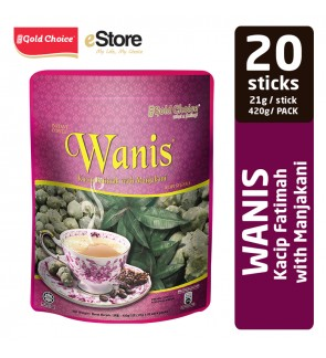 GOLD CHOICE Instant Coffee Kacip Fatimah (WANIS) - (21g X 20'S)