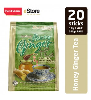 GOLD CHOICE Instant Honey Ginger Tea - (18g X 20'S)