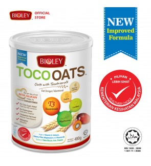 BIOLEY - TOCOOATS (Oats with Tocotrienols) 480g