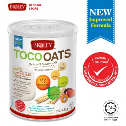 BIOLEY - TOCOOATS (Oats with Tocotrienols) 480g [Cereal]