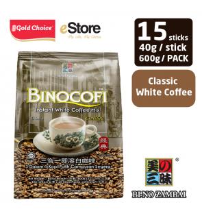 BI-NO ZAMBAI BINOCOFI White Coffee Classic (40g X 15'S)