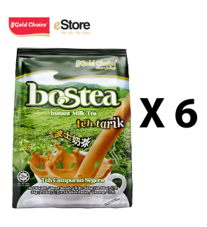 GOLD CHOICE BOSTEA Instant Milk Tea - (35g X 15'S) X 6 Packs In Bundle
