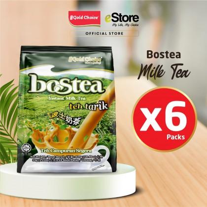 GOLD CHOICE BOSTEA Instant Milk Tea - (35g X 15'S) X 6 Packs In Bundle