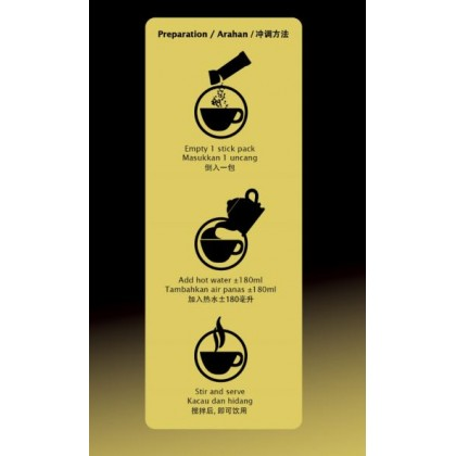 GOLD CHOICE JINBAO White Coffee Traditional - (40g X 15'S) X 6 Packs In Bundle [Classic]