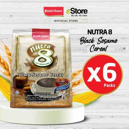 GOLD CHOICE NUTRA 8 Black Sesame Cereal - (35g X 15'S) X 6 Packs In Bundle