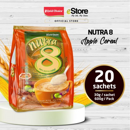 GOLD CHOICE NUTRA 8 Cereal With Apple - (30g X 20'S) X 6 Packs In Bundle