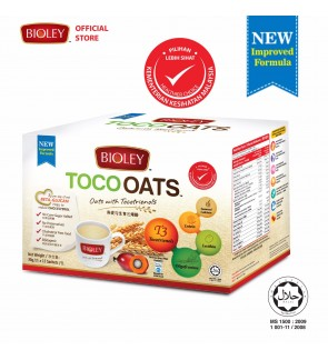 BIOLEY - TOCOOATS (Oats with Tocotrienols) BOX: 30g x 15'S