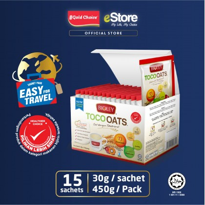 BIOLEY - TOCOOATS (Oats with Tocotrienols) BOX: 30g x 15'S [Cereal]