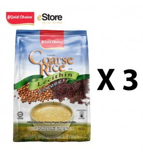 GOLD CHOICE Instant Coarse Rice With Lecithin - (30g X 20'S) X 3 Packs In Bundle
