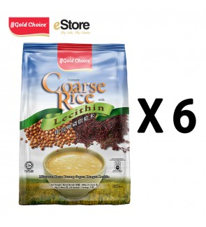 GOLD CHOICE Instant Coarse Rice With Lecithin - (30g X 20'S) X 6 Packs In Bundle