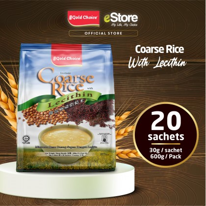 GOLD CHOICE Instant Coarse Rice With Lecithin - (30g X 20'S) X 6 Packs In Bundle [Cereal]
