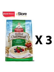 FARMER FRESH Oatmeal Rolled Oats - 1kg X 3 Packs