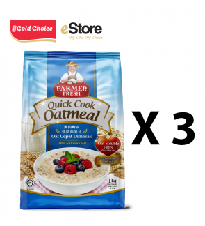 FARMER FRESH Oatmeal Quick Cook - 1kg X 3 Packs