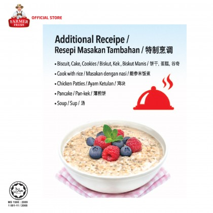 FARMER FRESH Oatmeal Instant - 1kg X 3 Packs [Oat]