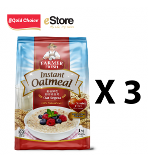 FARMER FRESH Oatmeal Instant - 1kg X 3 Packs