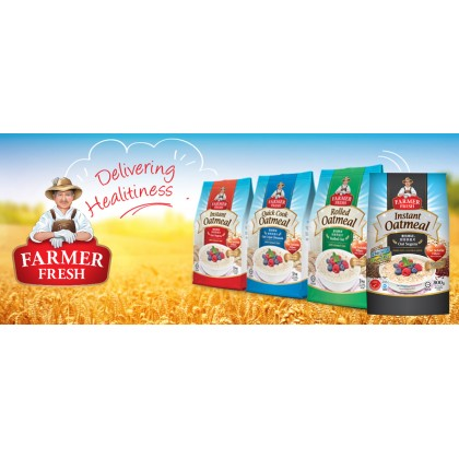 FARMER FRESH Oatmeal Instant With Chia Seed - 800g X 3 Packs [Oat]