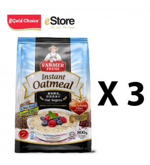 FARMER FRESH Oatmeal Instant With Chia Seed - 800g X 3 Packs