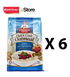 FARMER FRESH Oatmeal Quick Cook - 1kg X 6 Packs