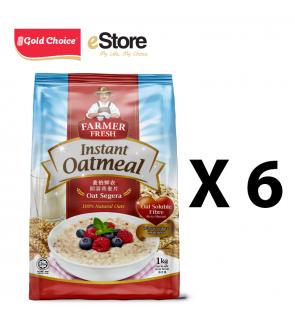 FARMER FRESH Oatmeal Instant - 1kg X 6 Packs