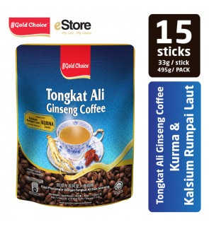 GOLD CHOICE Tongkat Ali Ginseng Coffee With Dates And Seaweed Calcium- (33g X 15'S)