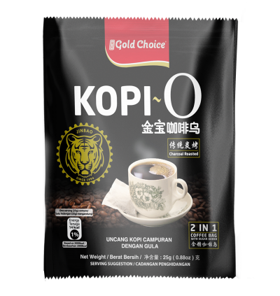 GOLD CHOICE Kopi O - (25g X 20'S) X 3 Packs Bundle
