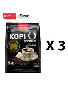 GOLD CHOICE Kopi O - (25g X 20'S) X 3 Packs Bundle