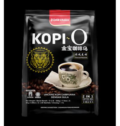GOLD CHOICE Kopi O - (25g X 20'S) X 6 Packs Bundle