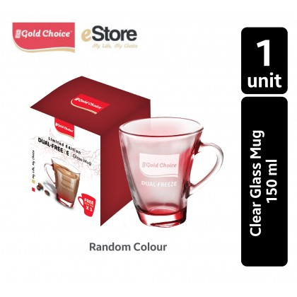 GOLD CHOICE Dual Freeze Clear Glass Mug - 150 ML X 1 Unit